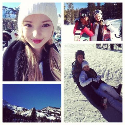 Dove Cameron Working With Luke Benward 2013 !