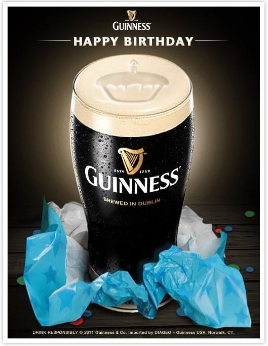 Guinness Birthday Cake
