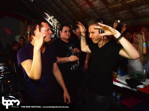 Photo of DJ Tiësto & his friend magician  Nicky Romero - Club