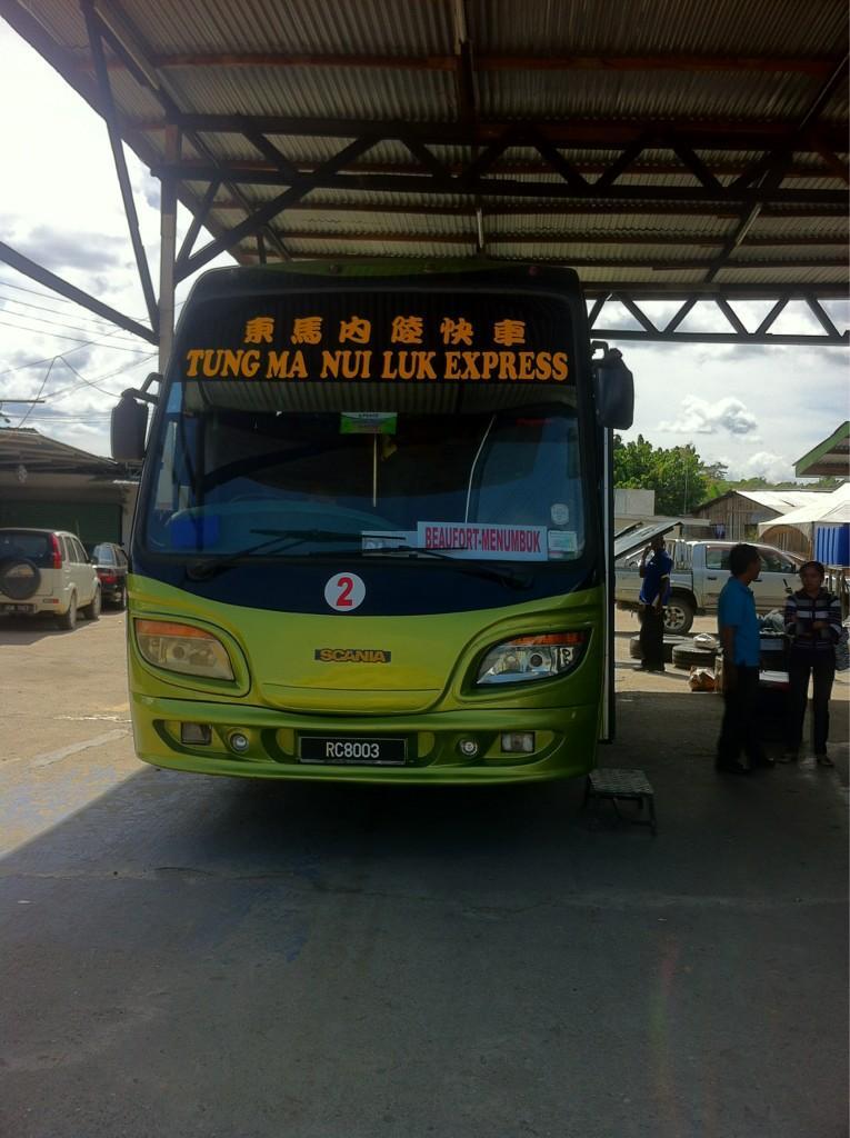 Tung Ma Nui Luk Express  @KENINGAUtwt - #menumbuk  masa perjalanan dari kgau: 7am & 1pm mnbuk - 10am & 4pm #Labuan http://t.co/isOUQ3E9