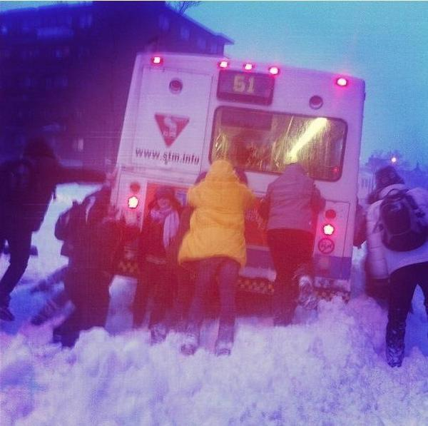 Only in Montreal :) a record snow storm (Picture by @tonnyyy) http://pic.twitter.com/RkzFCHKg