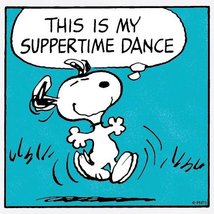 Image result for snoopy suppertime