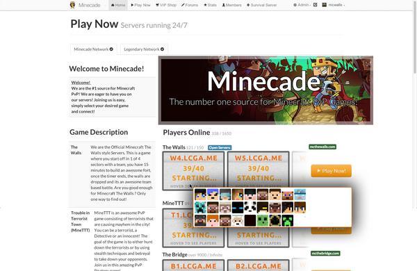 minecade server address