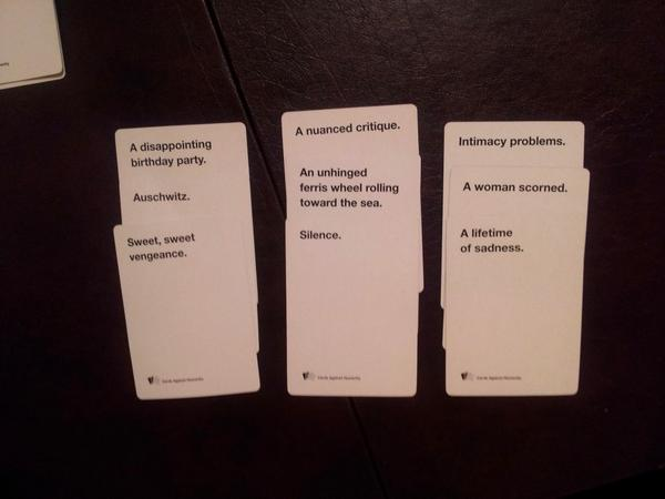 Carl On Twitter Cards Against Humanity Haiku Came Out Pretty
