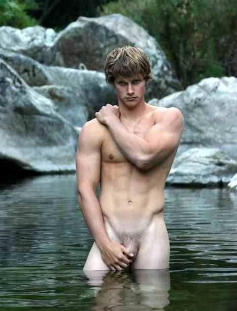 Nude Men Lake 55