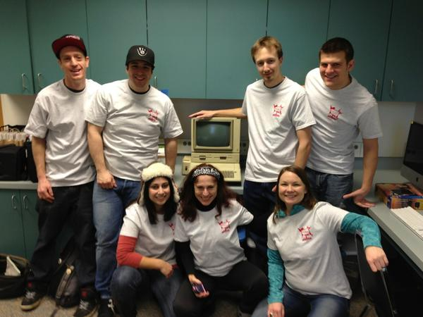 @dgrigar with our amazing #elit Avenues of Access #MLA13 undergrad docents. Yes, @loriemerson, an Apple 2e in bg! http://pic.twitter.com/zEMaZJiK