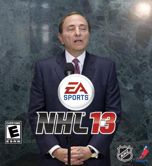 Electronic Arts NHL 13 Gary Bettman Lockout