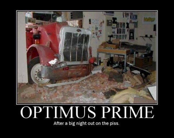 оптимус прайм демотиватор одинаково затрагивает все