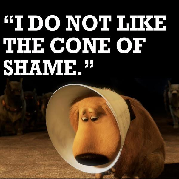 disney uk on twitter dug and his cone of shame up http t co