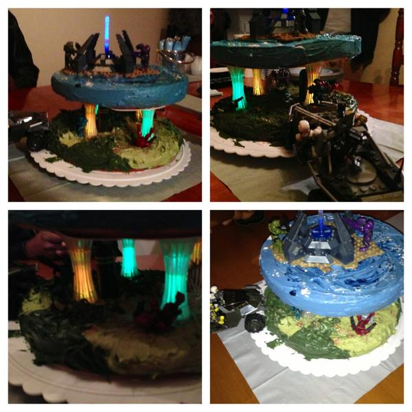 Awe Inspiring April On Twitter Megabloks Halo Birthday Cake T Co Funny Birthday Cards Online Alyptdamsfinfo