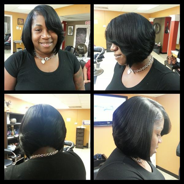 Kiva The Hair Diva On Twitter Sew In Weave Razor Cut Bob Kthd