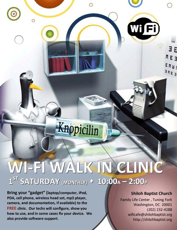 Shiloh's FREE WiFi Technology Clinic Flyer