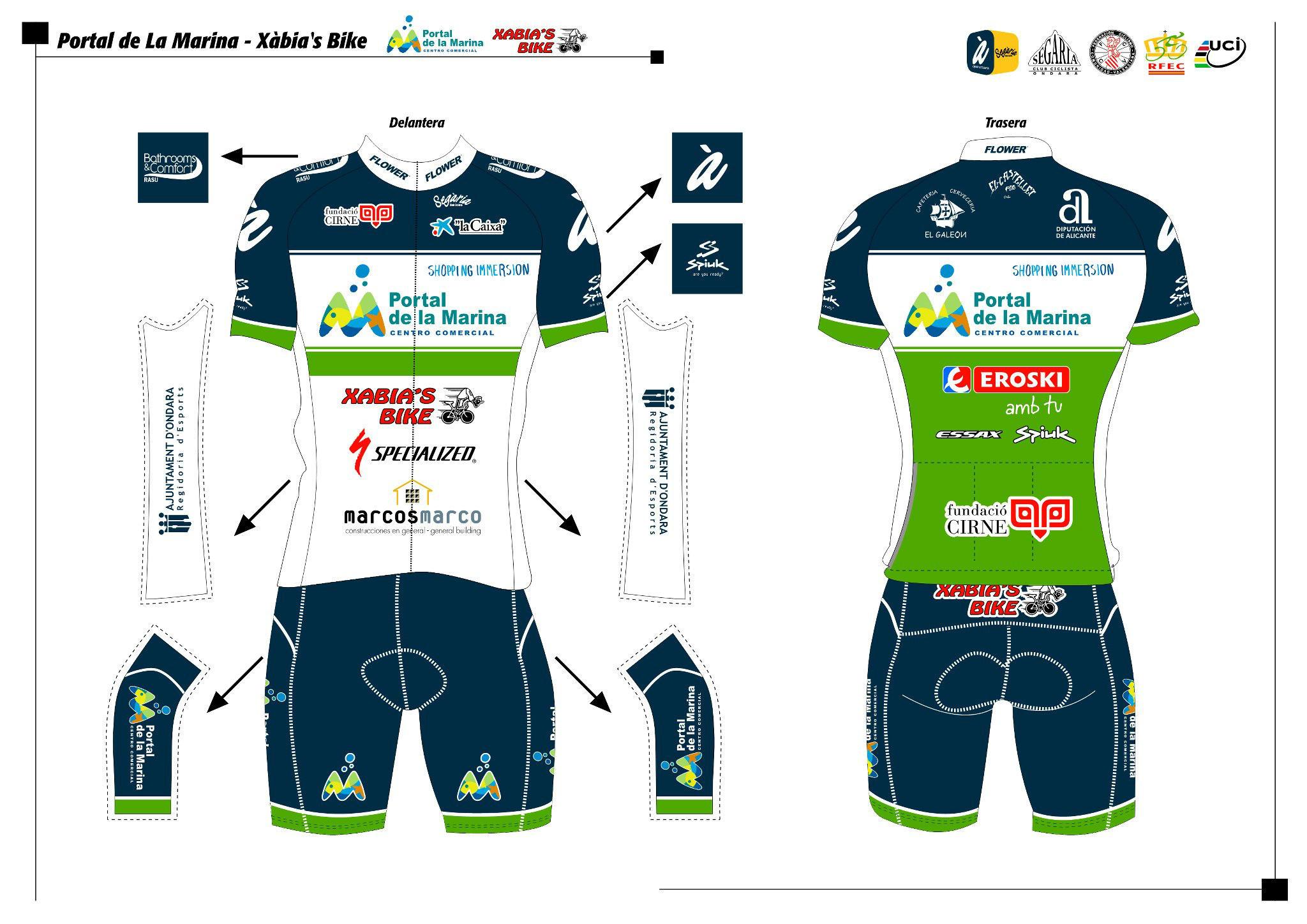Ciclismo cv las nuevas equipaciones del portal la marina for Equipos de ciclismo