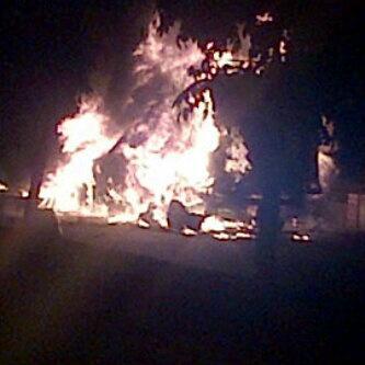 vehículos incinerados asonada Codazzi