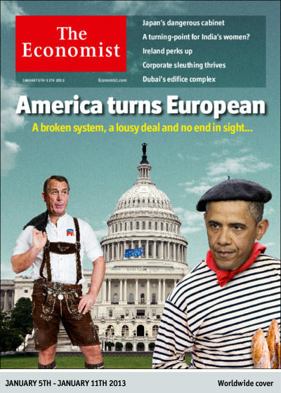 The Economist cover: America turns European