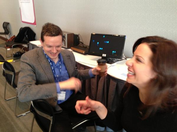 @nickmofo & @jesspres share a joke at #mla13 #elit. http://pic.twitter.com/Oeye5qiA