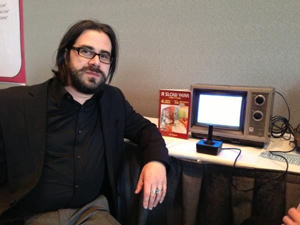 The one case in which it's A Slow Year for @ibogost. W/the Atari VCS at #elit exhibit in Hynes 312. Come play, #mla13. http://pic.twitter.com/0NPfDmAe