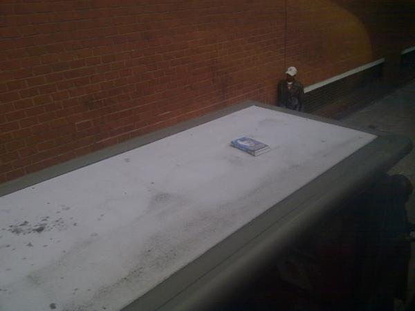 if anyone fancies watching 'Hellraiser' on VHS. Theres a copy on top of a bus stop on the Old Kent Road. http://t.co/Jkpok2Af