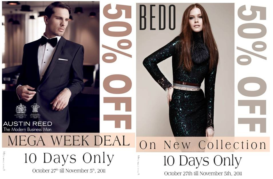 The Avenues الأڤنيوز On Twitter Austin Reed And Bedo Mega Week Deal 50 Off Valid From Oct 27th Nov 5th Http T Co I3ymobwp