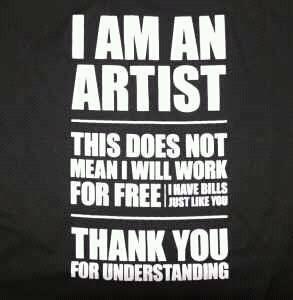 Bom dia companheiros q pagam suas contas e suas biritas vivendo exclusivamente de sua arte ...  HHHEEELLLYYYEEAAHHH!!! http://t.co/8SacPW0w