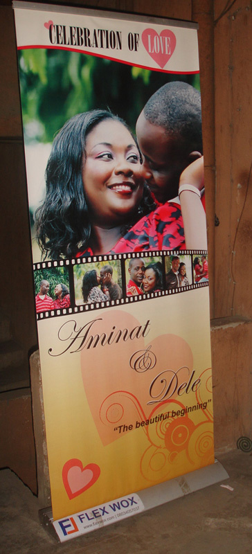 Flexwox Roll Banners On Twitter Need A Roll Up Banner Like This For A Wedding Event We Also Rent Out Stands Http T Co Xeulgd8g