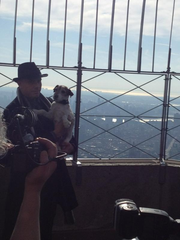 Uggie takes Manhattan! http://t.co/KuFomN9a