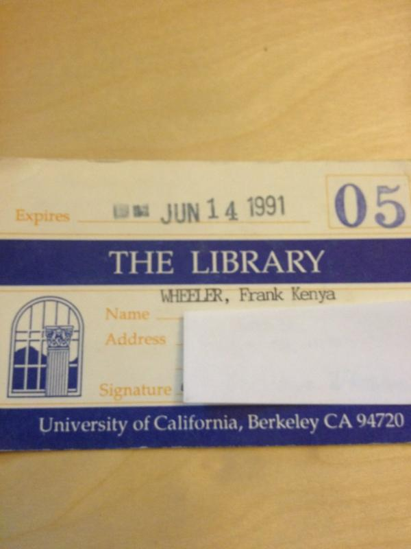 OMG cleaning and stumbled across my 1st @cal library card from when I was a High School senior #nerdalert #backintheday http://pic.twitter.com/lWcKLOdT