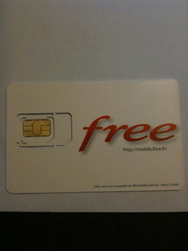 free je n ai pas recu ma carte sim
