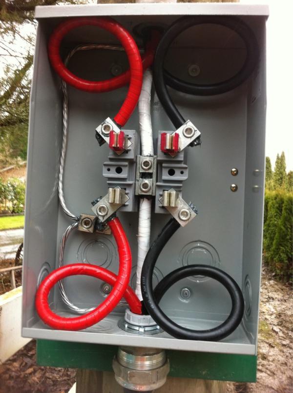 wiring 200 amp meter box