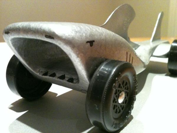 John Hann On Twitter Robo Shark Pinewood Derby Car Ready To Race