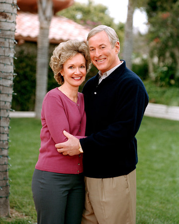 Brian Tracy with friendly, Wife Barbara Tracy
