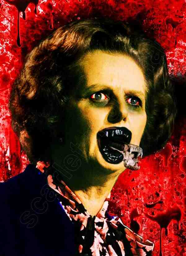 Greed is good MARGARET THATCHER TERRORISES THE BACK STREETS OF LONDON http://   #politics #satire #Pips #ESA #WCA #NHS #UniversalCredit 1