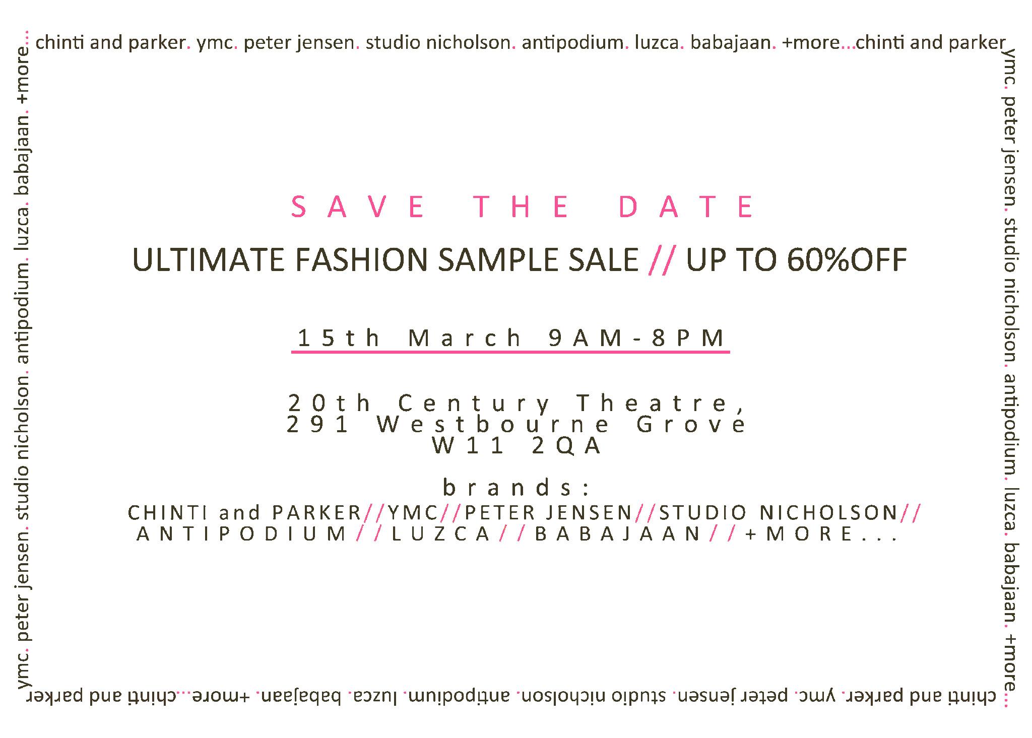 Jo gordon: sample sale with ally capellino and studio nicholson.