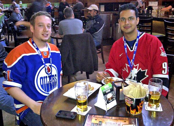 Edmonton Oilers On Twitter Marcel And Omar Are Today S Fanfreezeframe As They Enjoy Molson Canadian Oilers Game Day Live At The Twisted Kilt Http T Co Teii1gvf