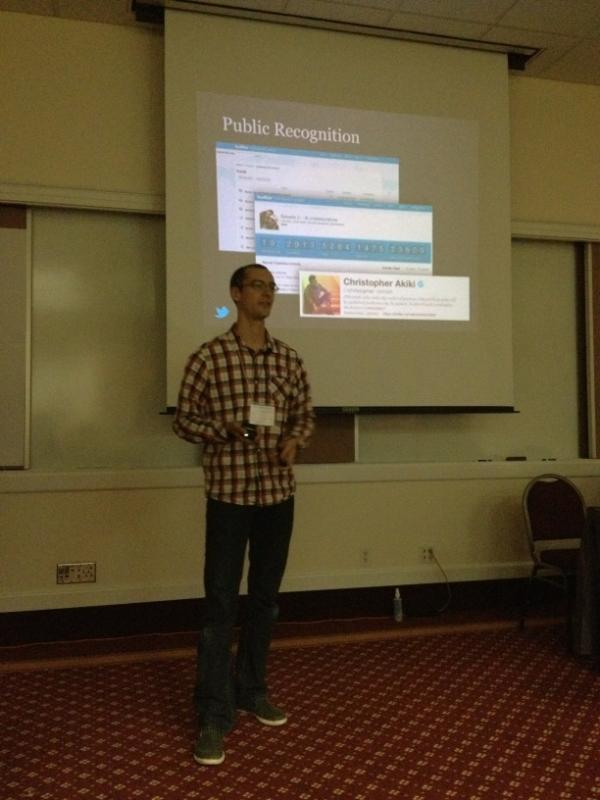 Our amazing Twitter moderator, @christopher, is featured at #2012i18n conference! Go mods! http://t.co/IqsdUTvg