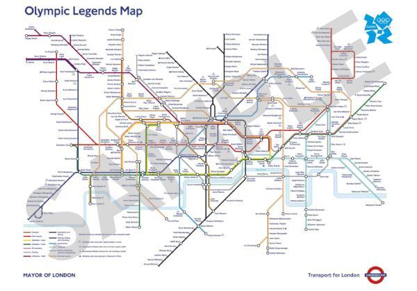 Схема лондонского метро 2016