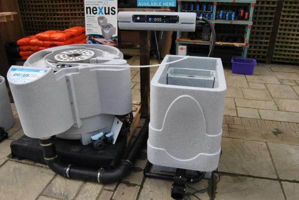 Keith koi water barn keithyholmes twitter for Gravity pond filter setup