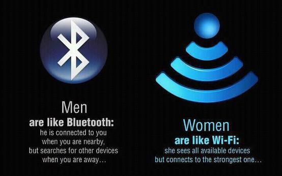 Droge Humor On Twitter Mannen Zijn Net Bluetooth Vrouwen