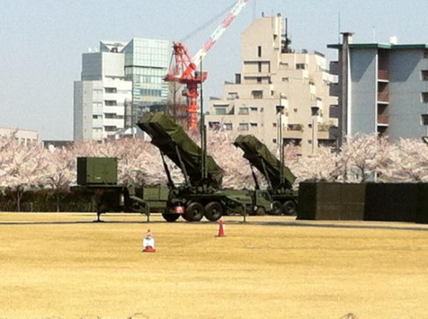 """Ракеты-перехватчики """"Патриот"""" в Токио"""