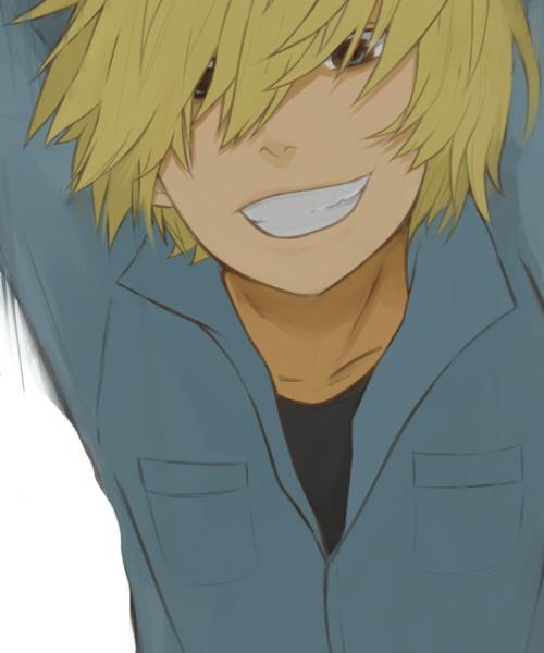 Аниме пацан с улыбкой