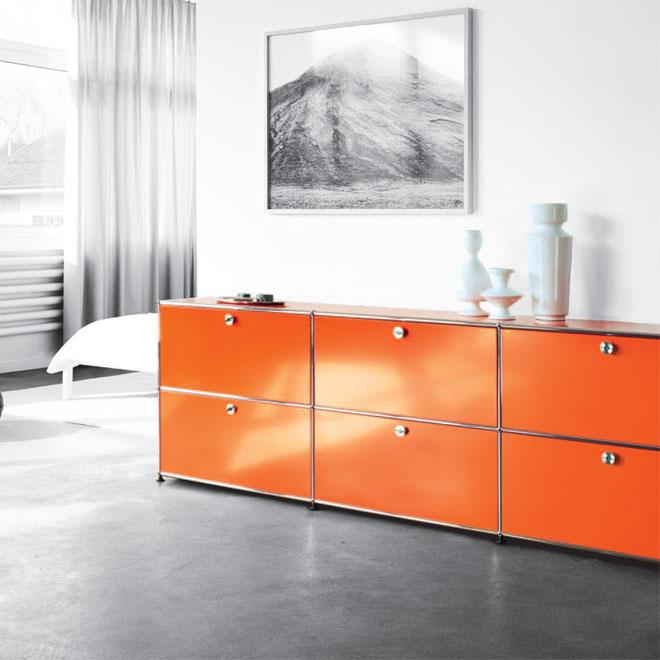 usm office furniture on twitter orange usm haller. Black Bedroom Furniture Sets. Home Design Ideas