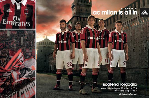 divisa AC Milan gara