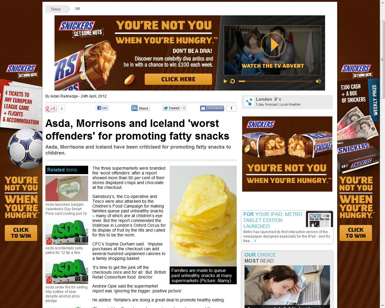Children S Food Campaign On Twitter Comedy Snickers Ads Surround