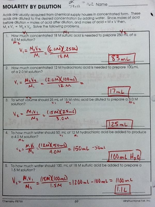 32 Molarity Worksheet Answer Key Chemistry If8766 ...