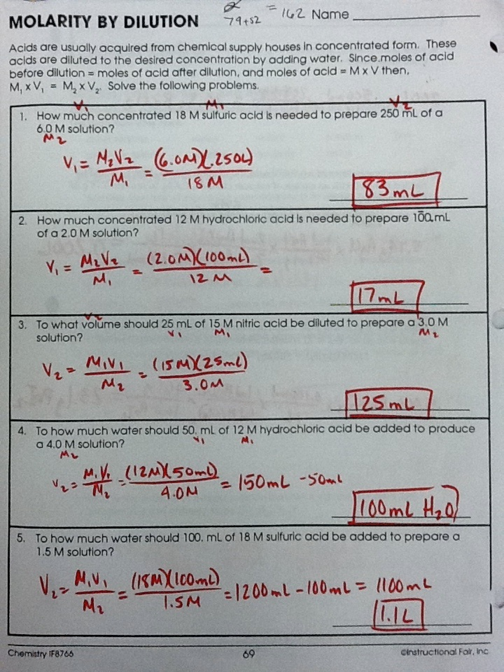 Amy Reynolds On Twitter Hchem Solutions Practice Packet P 6