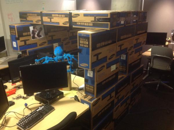 corey gated on twitter a box fort at work supports you http t