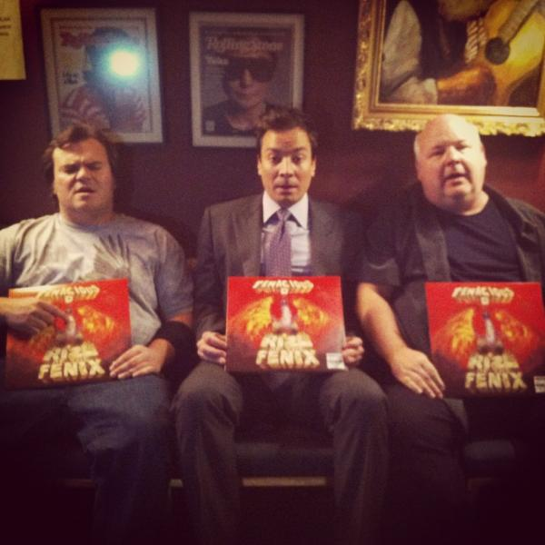 #RizeOfTheFenix  @jimmyfallon, Jack and I with our Fenix's http://t.co/RER2lNdG