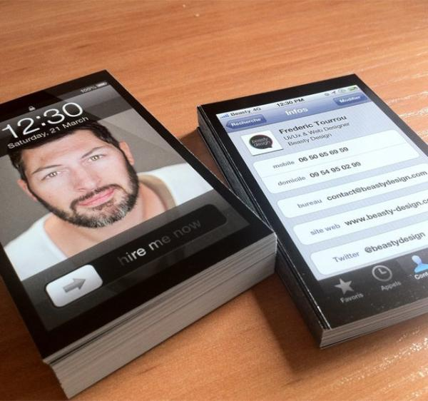 "thecoolhunter on Twitter ""iPhone business cards"