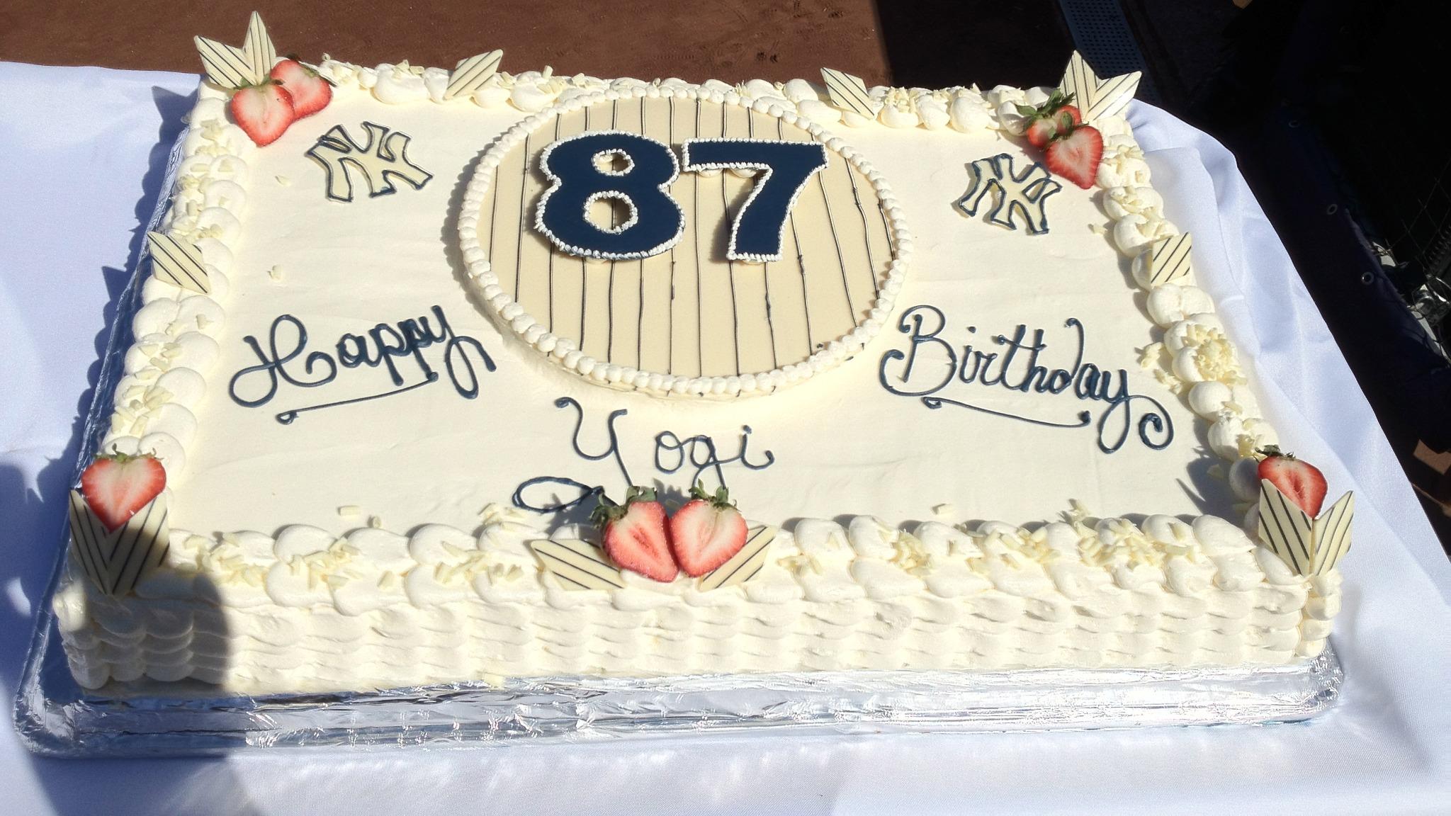 Miraculous New York Yankees On Twitter The Yanks Present Yogi With A Funny Birthday Cards Online Benoljebrpdamsfinfo