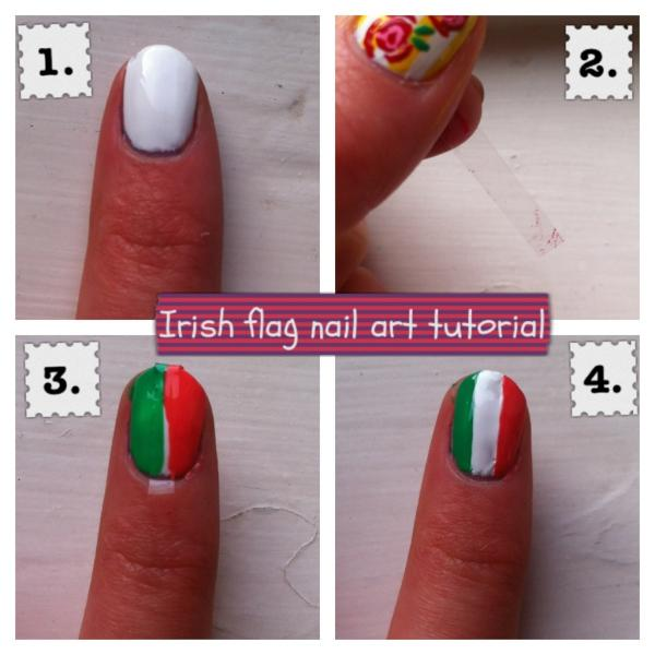 Nail Tutorials On Twitter Irishitalian Flag Nail Art Tutorial